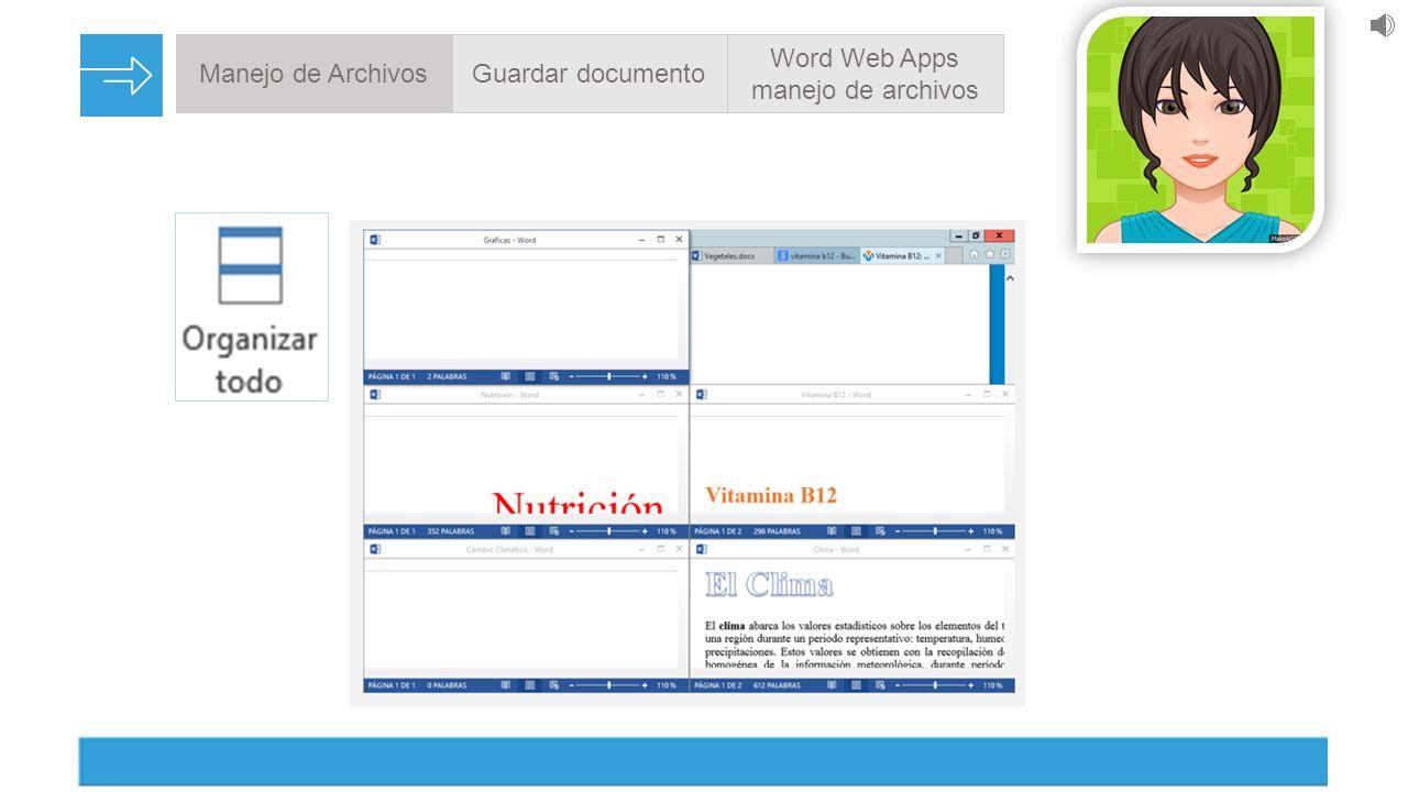 Manejo de ArchivosGuardar documento Word Web Apps manejo de archivos ...