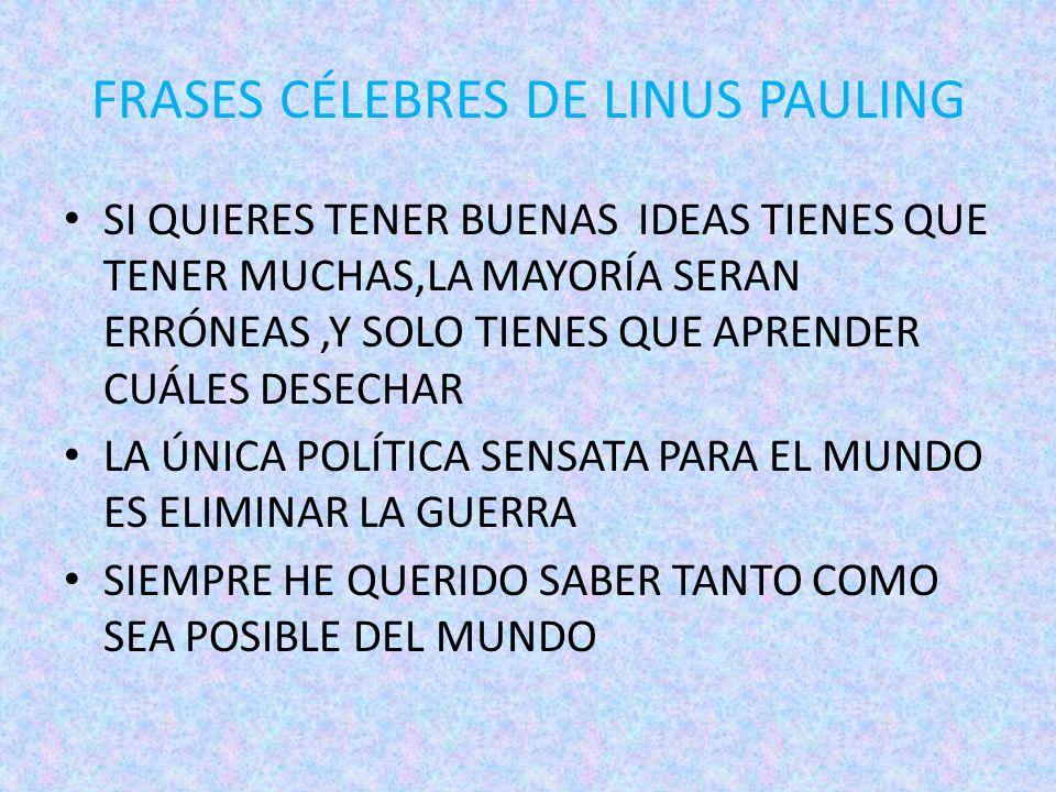 Linus Pauling Premio Nobel De La Paz En 1962 Linus Pauling