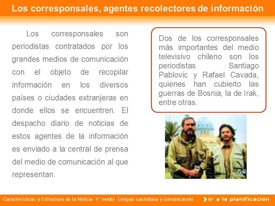 Características Y Estructura De La Noticia Nm1 1 Medio