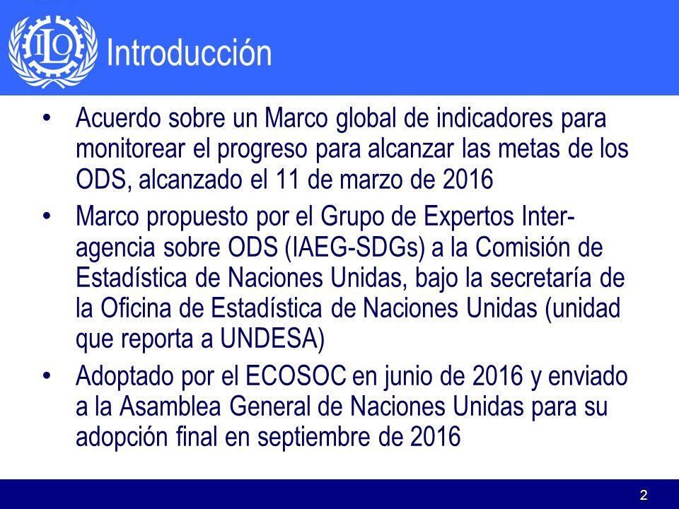 El Marco de Indicadores de los ODS y trabajo decente Rafael Diez de ...