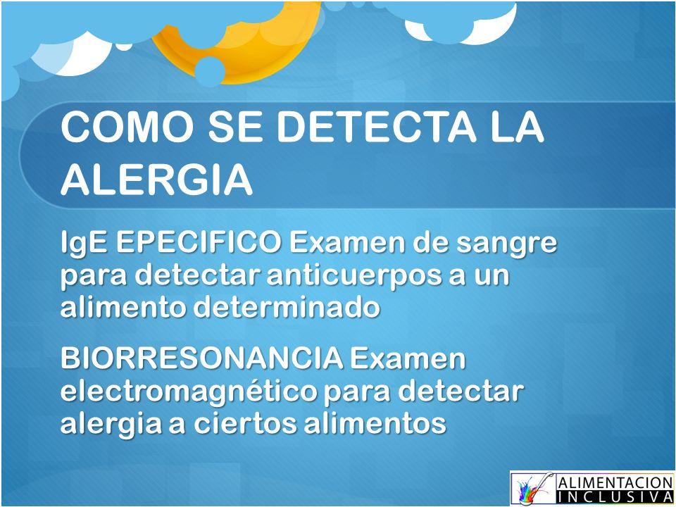 Examen de sangre para detectar alergias