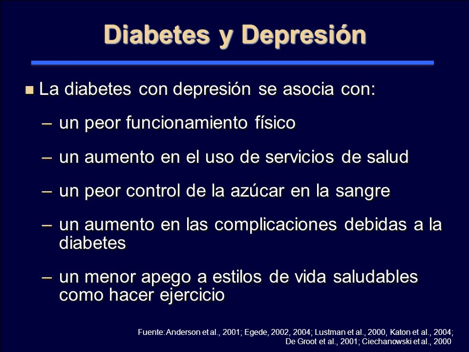 Anderson 2001 diabetes depresión en hombres