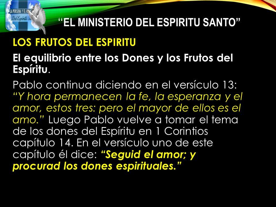 los frutos del espiritu santo versiculo