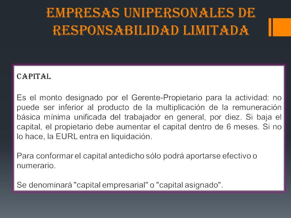 Empresas Unipersonales De Responsabilidad Limitada Ppt