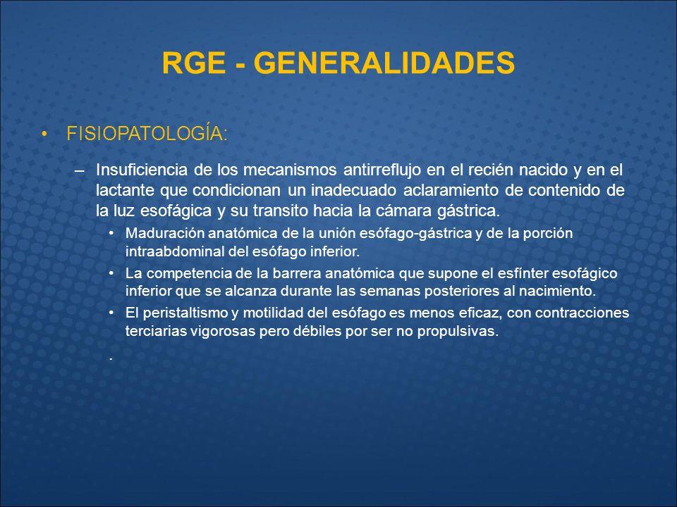 ECO y RGE DIAGNÓSTICO EN LACTANTES. RGE - GENERALIDADES IMPORTANCIA ...
