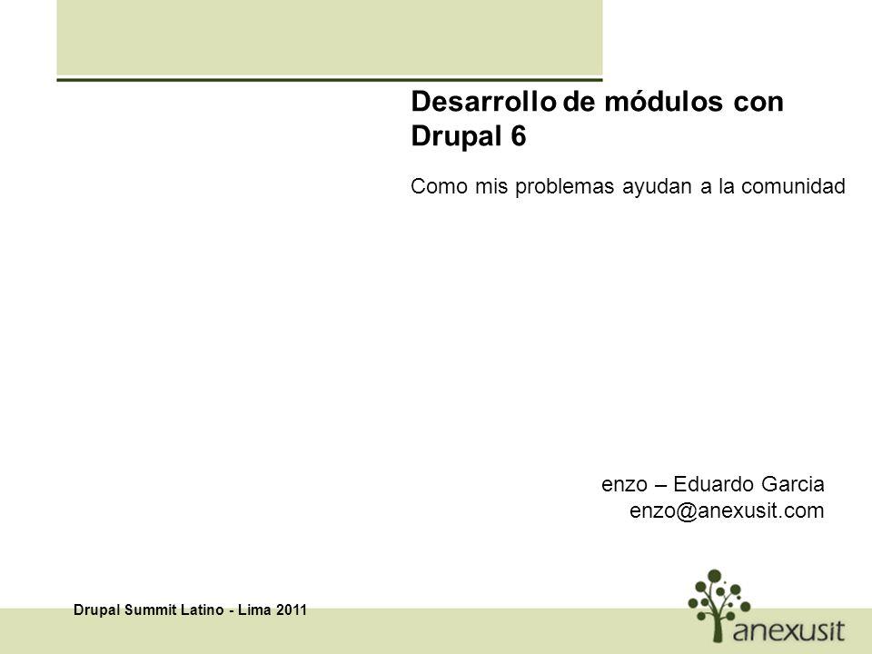 Desarrollo de módulos con Drupal 6 Como mis problemas ayudan