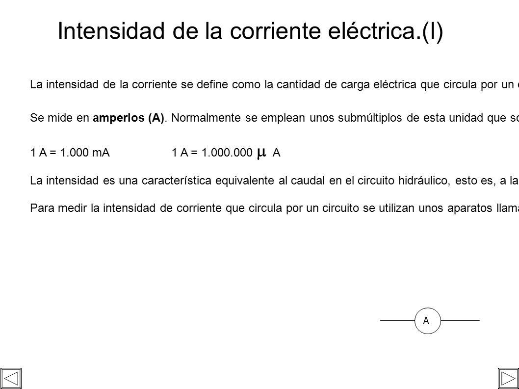 Circuito Hidraulico Mixto : Magnitudes básicas de un circuito eléctrico. magnitudes elÉctricas