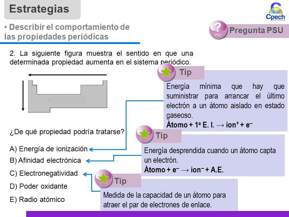 Pptctc003tc83 a16v1 clase modelo atmico de la materia iii tabla estrategias describir el comportamiento de las propiedades peridicas pregunta psu 2 urtaz Image collections