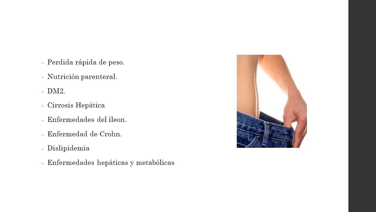 Perdida de peso y colelitiasis