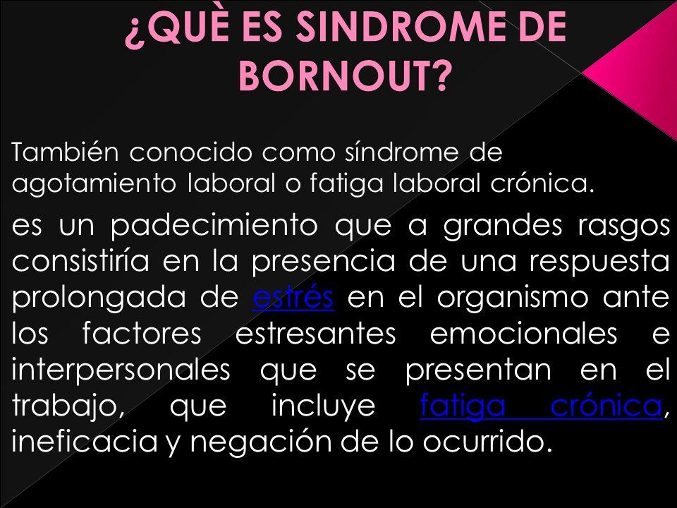 Sindrome De Bornout Què Es Sindrome De Bornout También