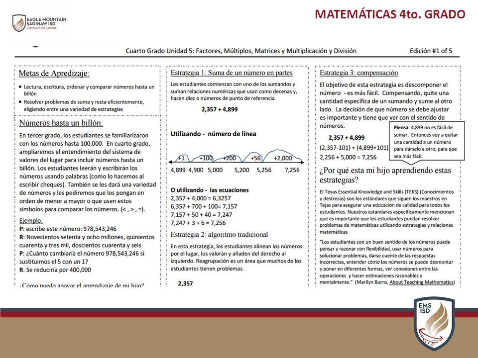 DESCRIPCIÓN GENERAL DEL PLAN DE ESTUDIOS PRIMARIA CUARTO GRADO ...
