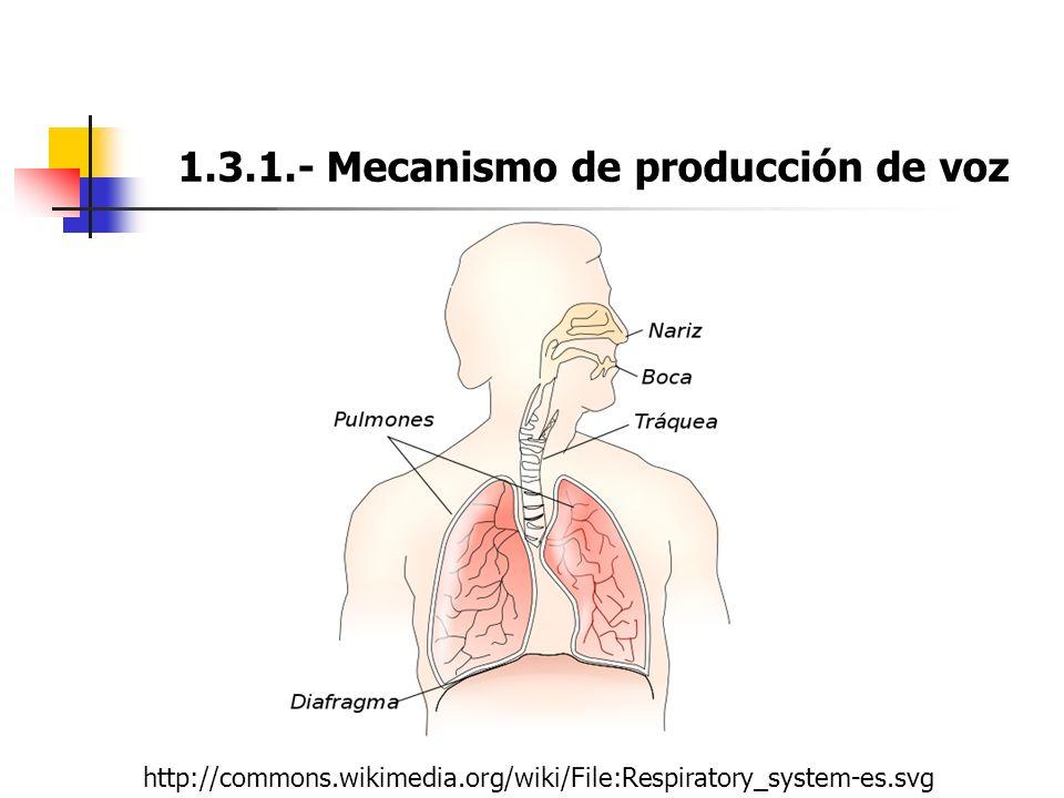 Tema 1. Producción de Voz y Fonética La señal de voz Características ...