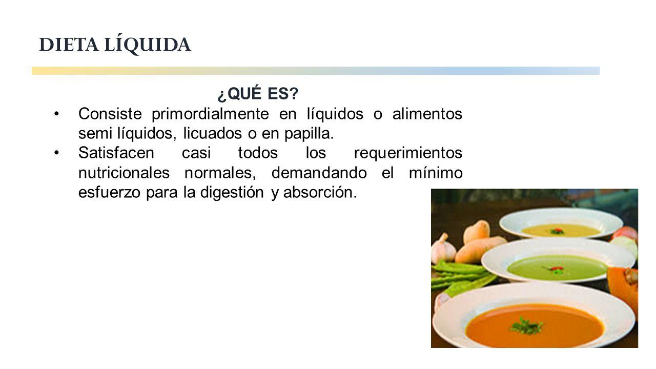 tipos de dietas liquidas