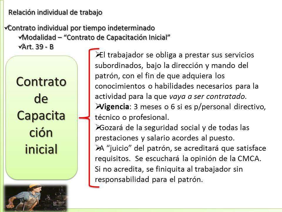 Asignatura: Relaciones individuales de trabajo y seguridad social ...