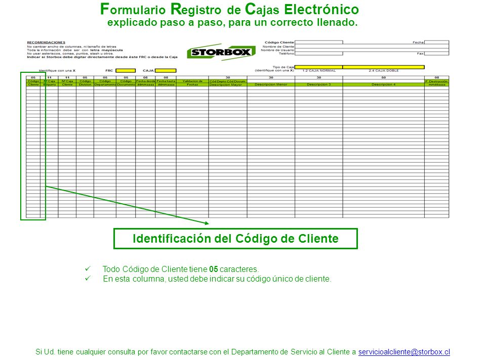 Manual Formulario Registro de Cajas Para el envío de Cajas en ...