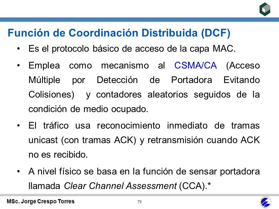 Redes de Área Local MSc. Ing. Jorge Crespo Torres Profesor Asistente ...