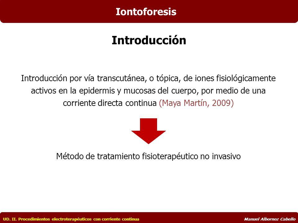 Capítulo 8 IONTOFORESIS UD. II. Procedimientos electroterapéuticos ...