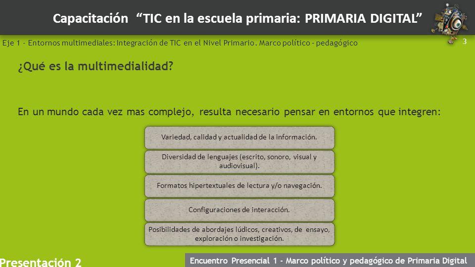 """Capacitación """"TIC en la escuela primaria: PRIMARIA DIGITAL ..."""