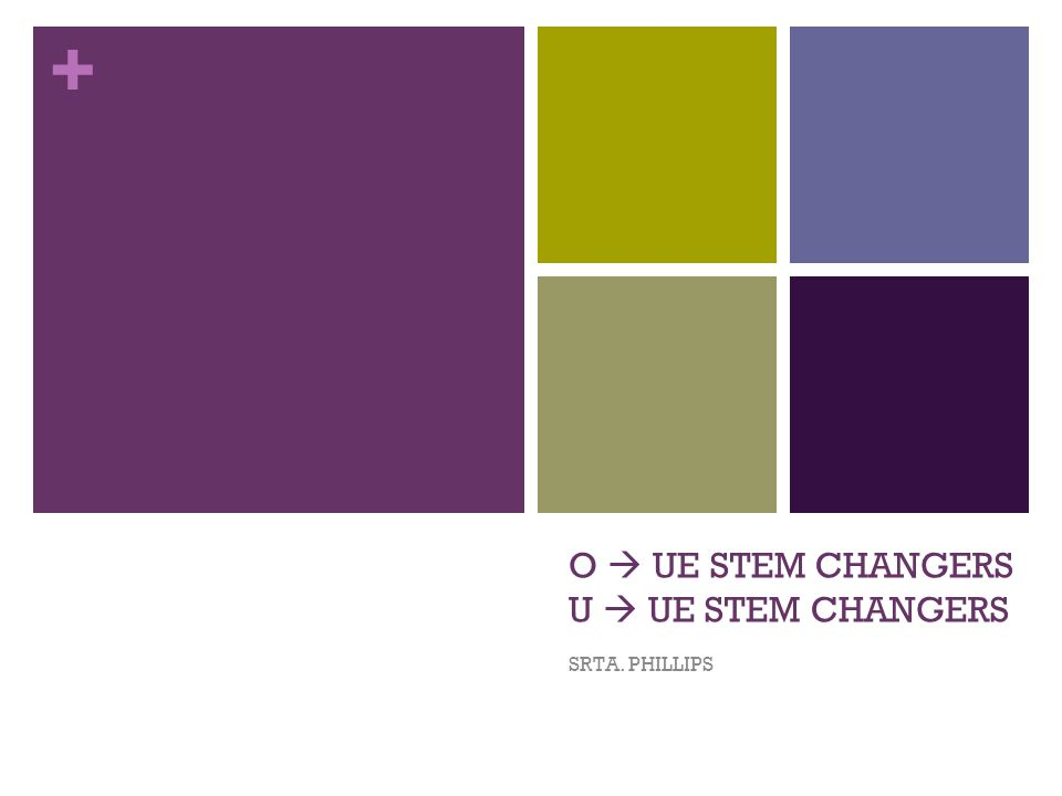 + O UE STEM CHANGERS U UE STEM CHANGERS SRTA. PHILLIPS