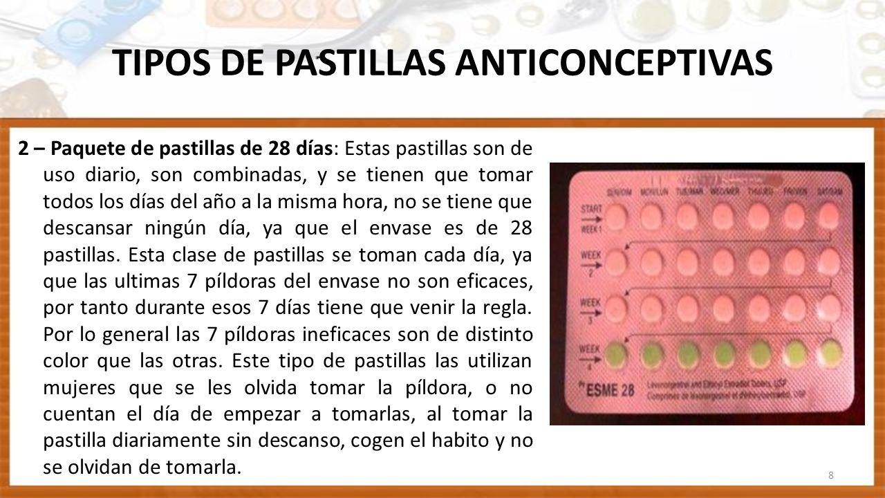 De pastillas se anticonceptivas 28 toman las como