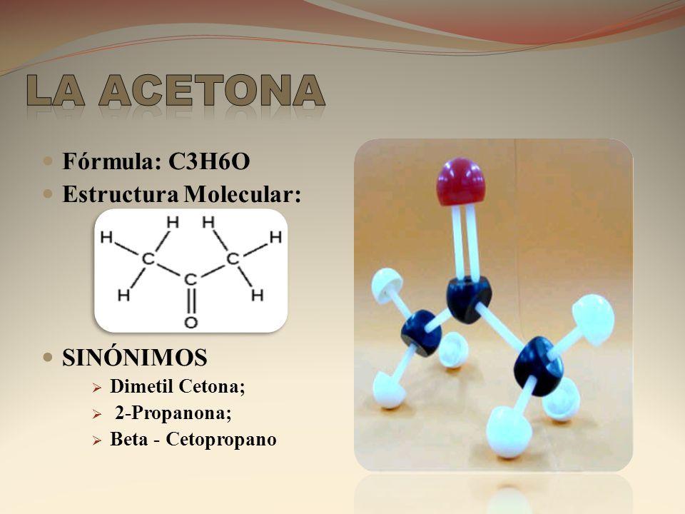 Fórmula C3h6o Estructura Molecular Sinónimos Dimetil