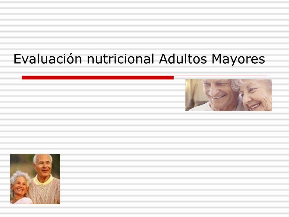 Nutrición para adultos mayores ppt
