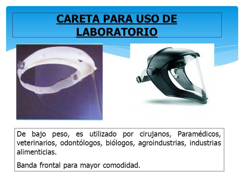 344bc63a40 CARETA PARA USO DE LABORATORIO De bajo peso, es utilizado por cirujanos,  Paramédicos,