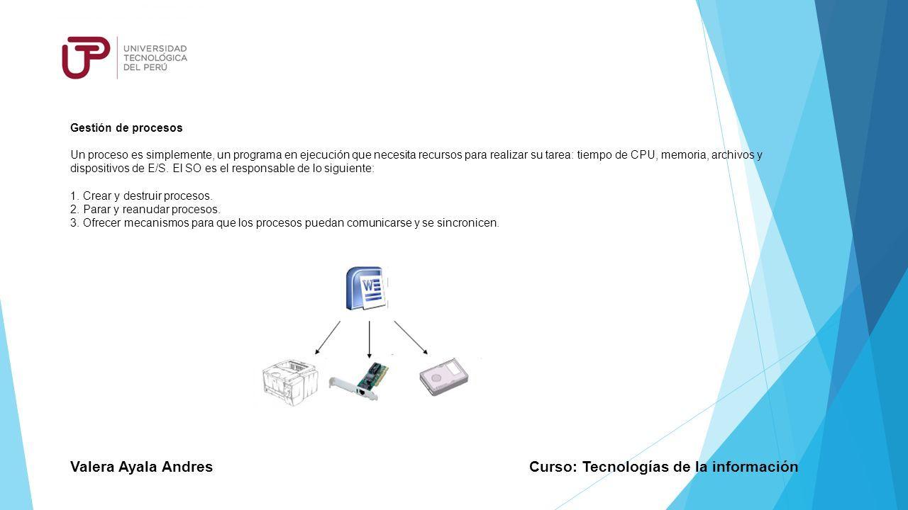 SISTEMAS OPERATIVOS Curso: Tecnologías de la información. - ppt ...