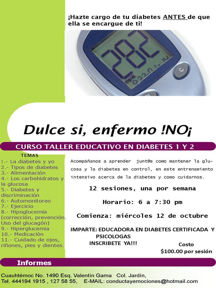 temas grupales de diabetes