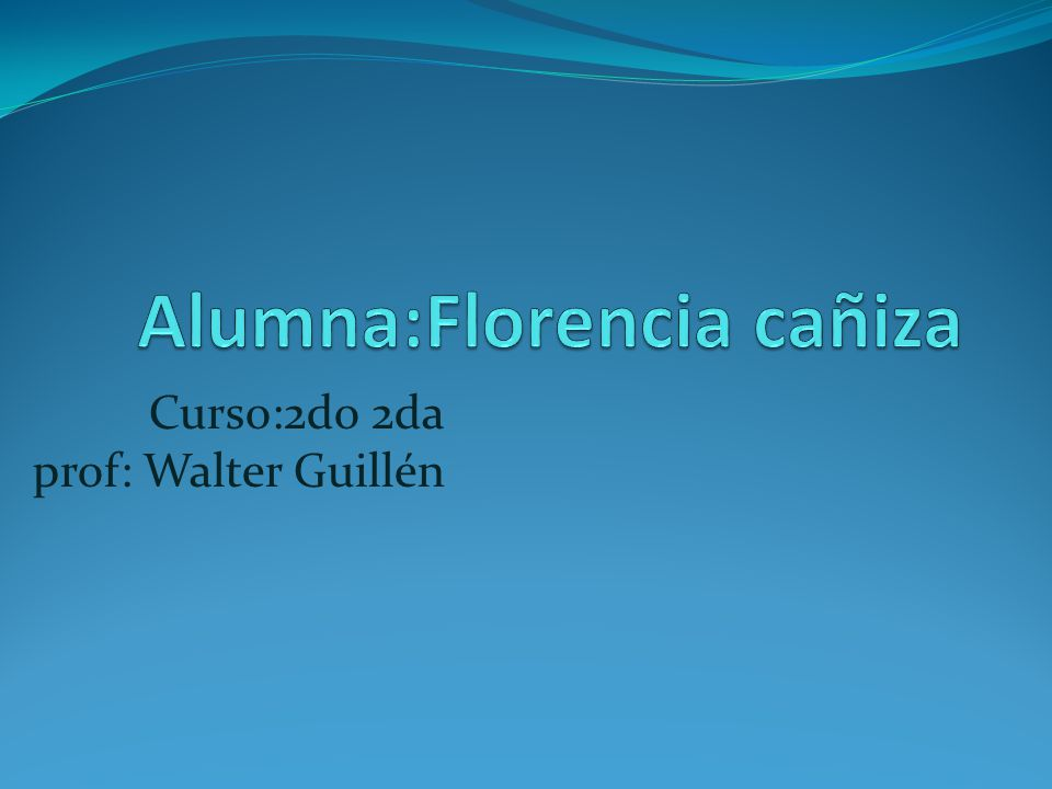 Curso:2do 2da prof: Walter Guillén