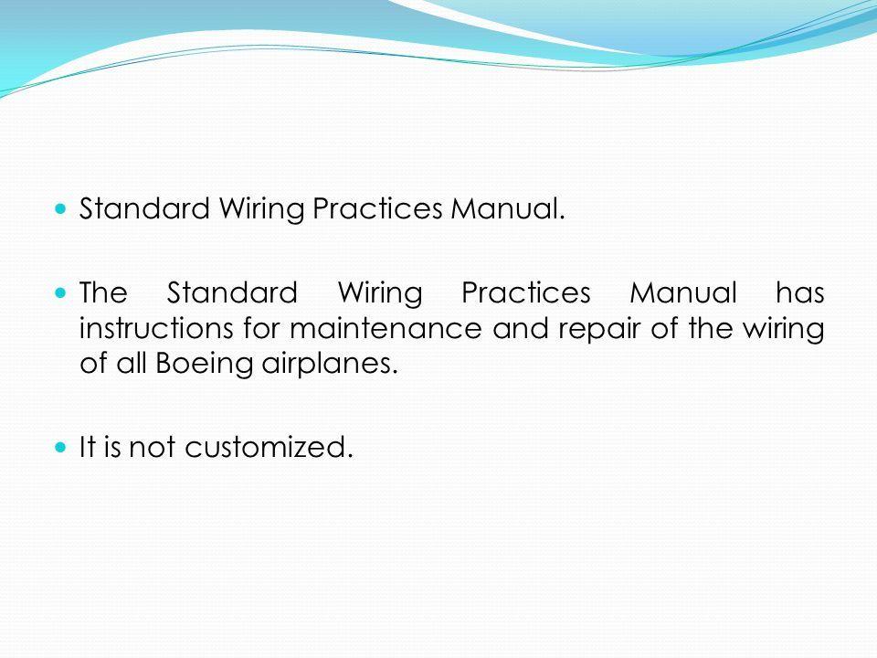 ata spec 100 manufacturers technical data the air transport rh slideplayer es boeing standard wiring practices manual pdf airbus standard wiring practices manual