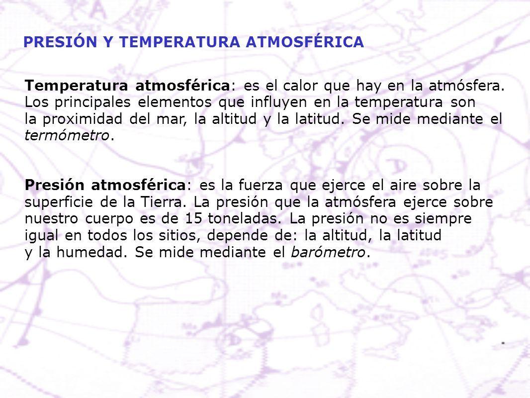 Atmosferica que se con mide temperatura