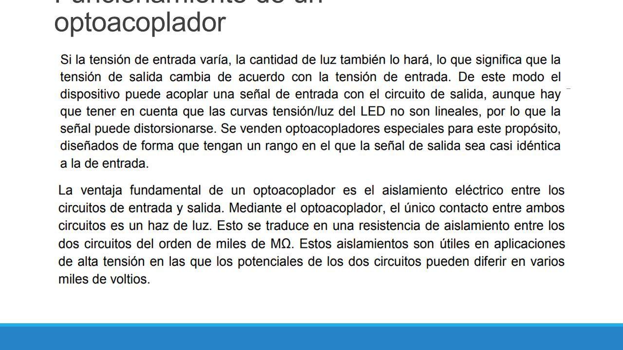 Circuito Optoacoplador : IngenierÍa electromecÁnica asignatura: electrónica de potencia