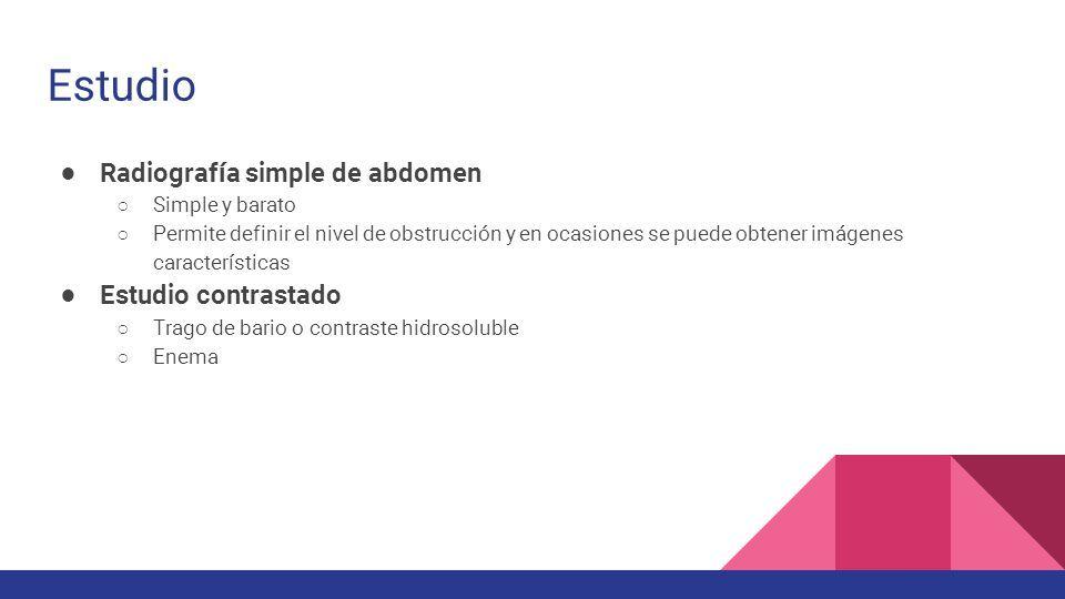 Obstrucción Intestinal Pediatría y Cirugía Infantil Ricardo Poblete ...