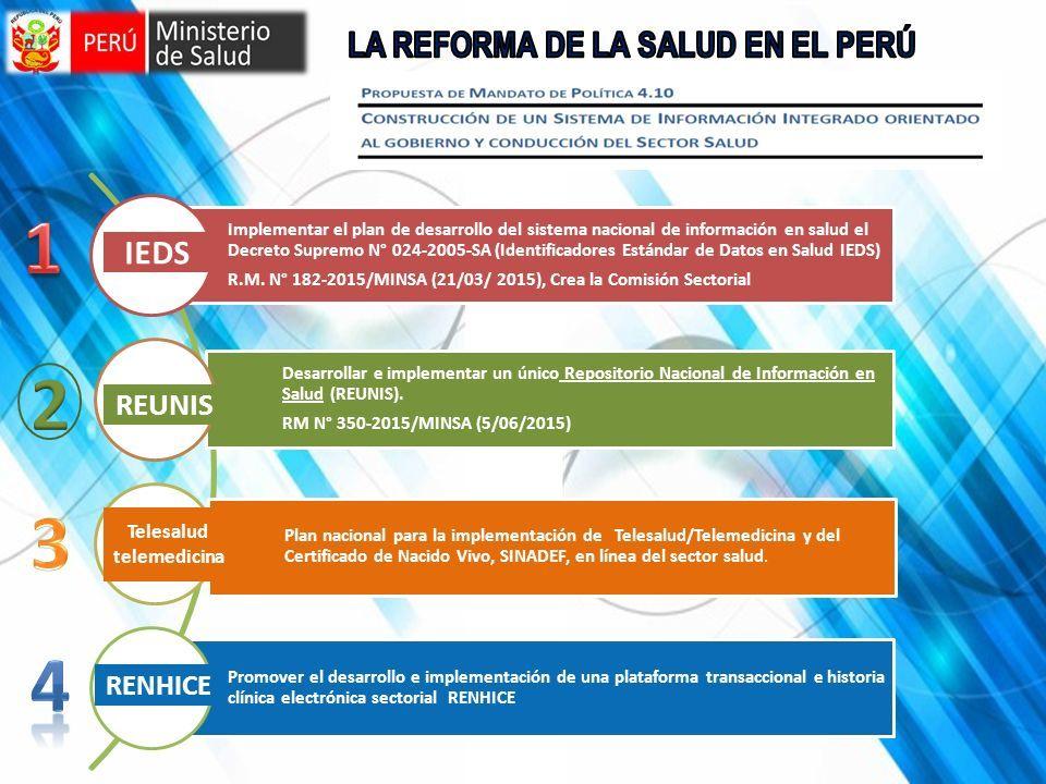 FORTALECIMIENTO DE INFORMACION EN LOS ESTABLECIMIENTOS DE SALUD ...