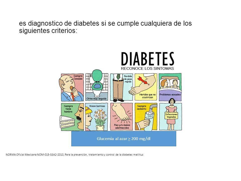 tratamiento de diabetes nom015