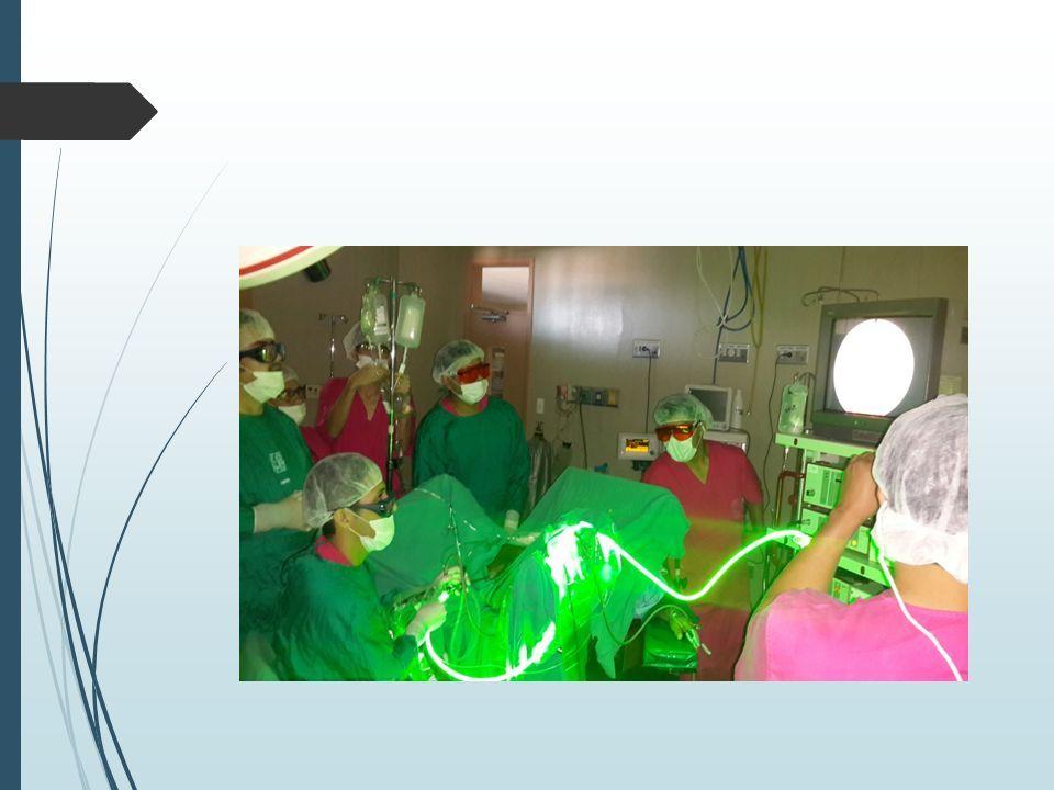 fotovaporización de la próstata con valle de luz verde