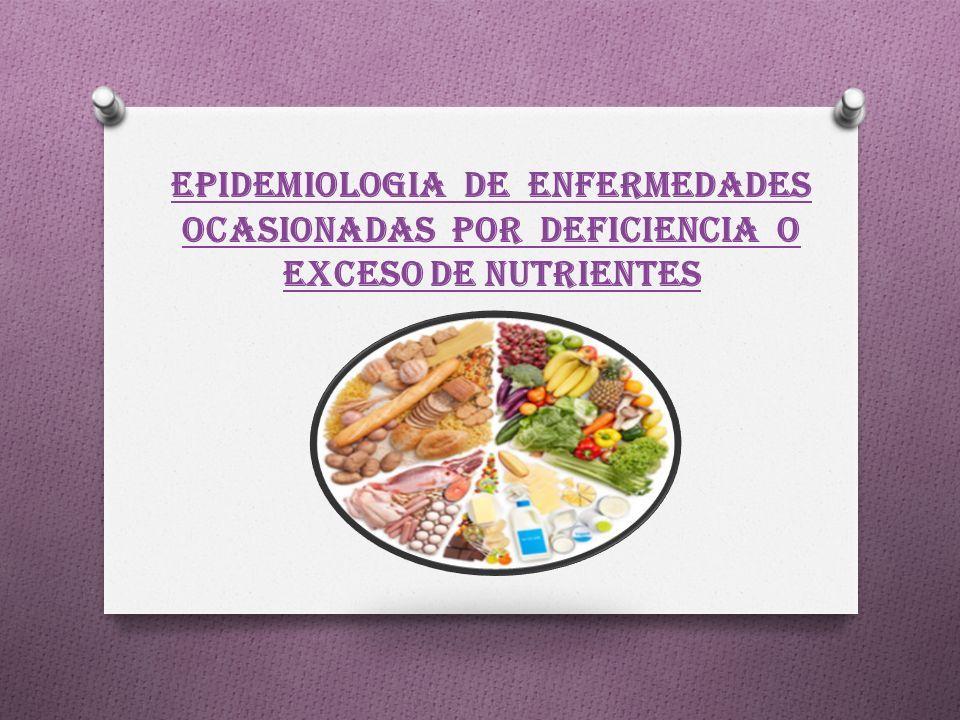 enfermedades causadas por el exceso falta o deficiencia de nutrientes