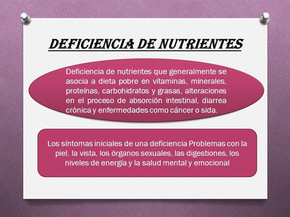 3 enfermedades por falta de nutrientes