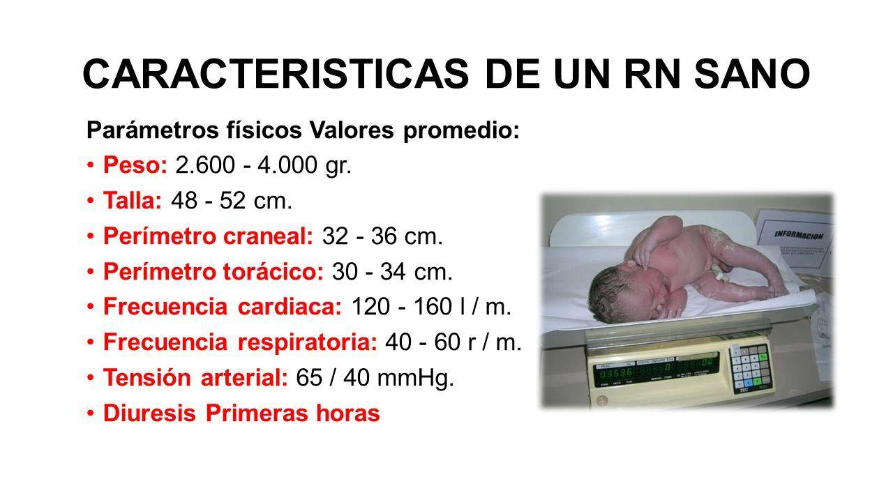 Presión arterial promedio normal en un bebé recién nacido