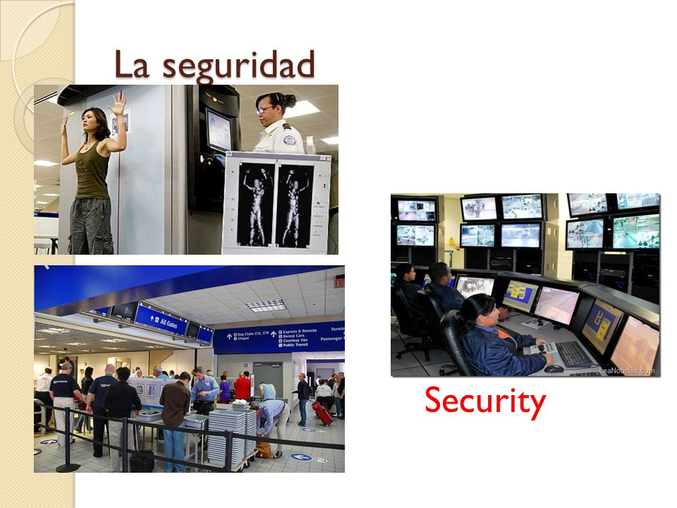 La seguridad Security