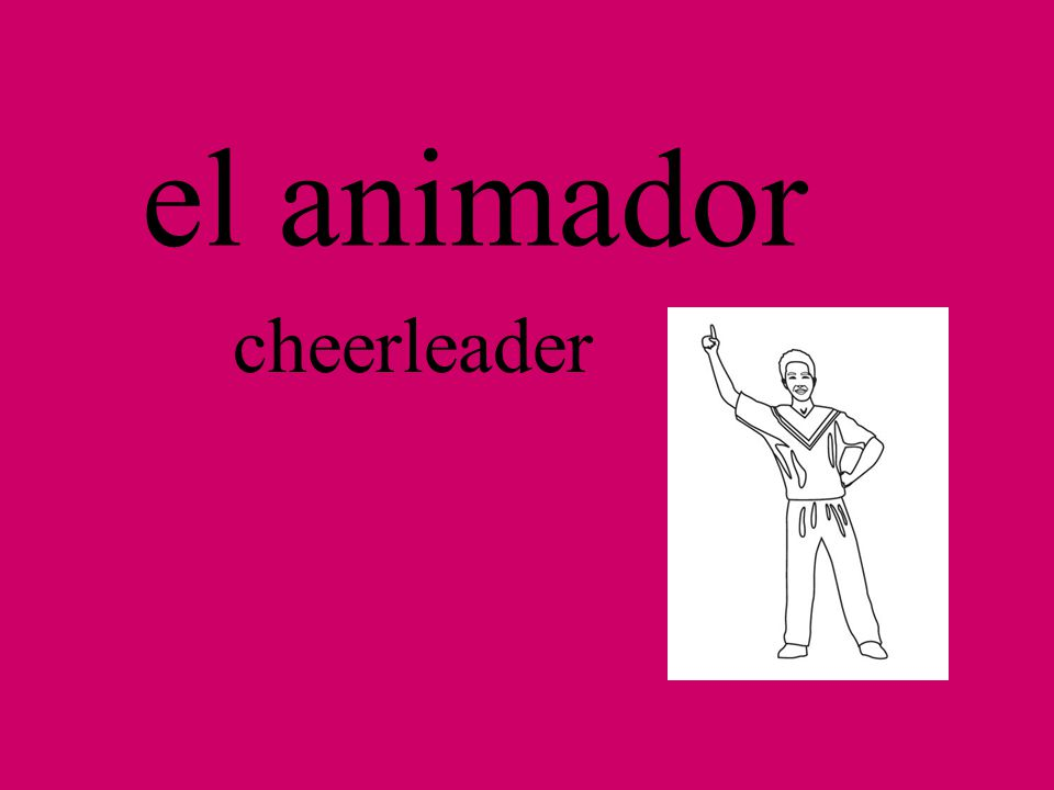 la animadora cheerleader