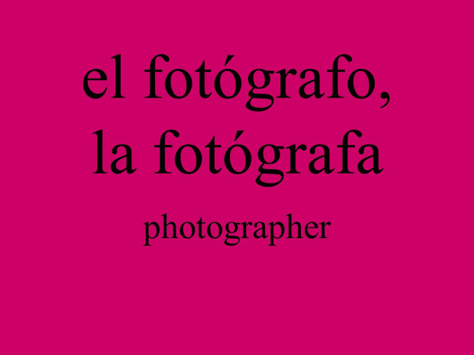 la fotofrafía photography