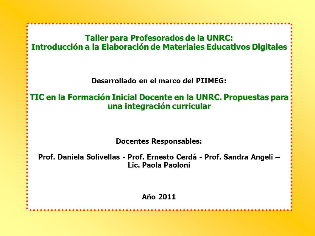 Taller para Profesorados de la UNRC: Introducción a la Elaboración ...