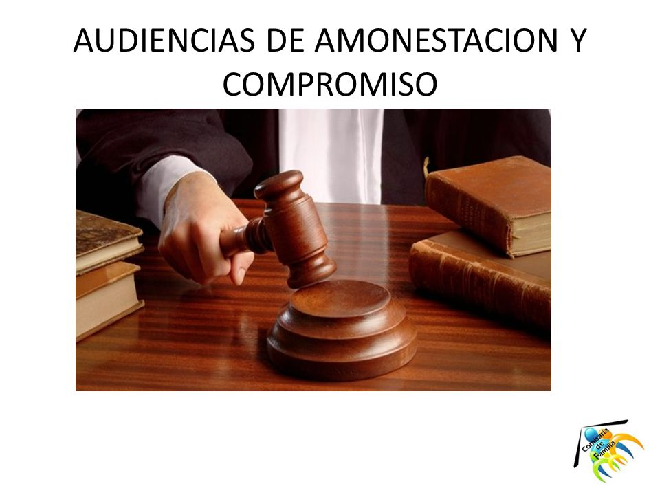 AUDIENCIAS DE AMONESTACION Y COMPROMISO