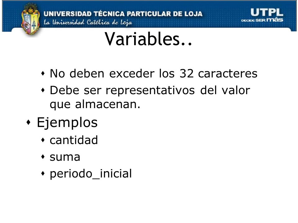 Variables..