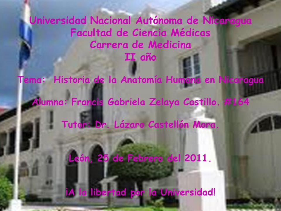 Universidad Nacional Autónoma de Nicaragua Facultad de Ciencia ...