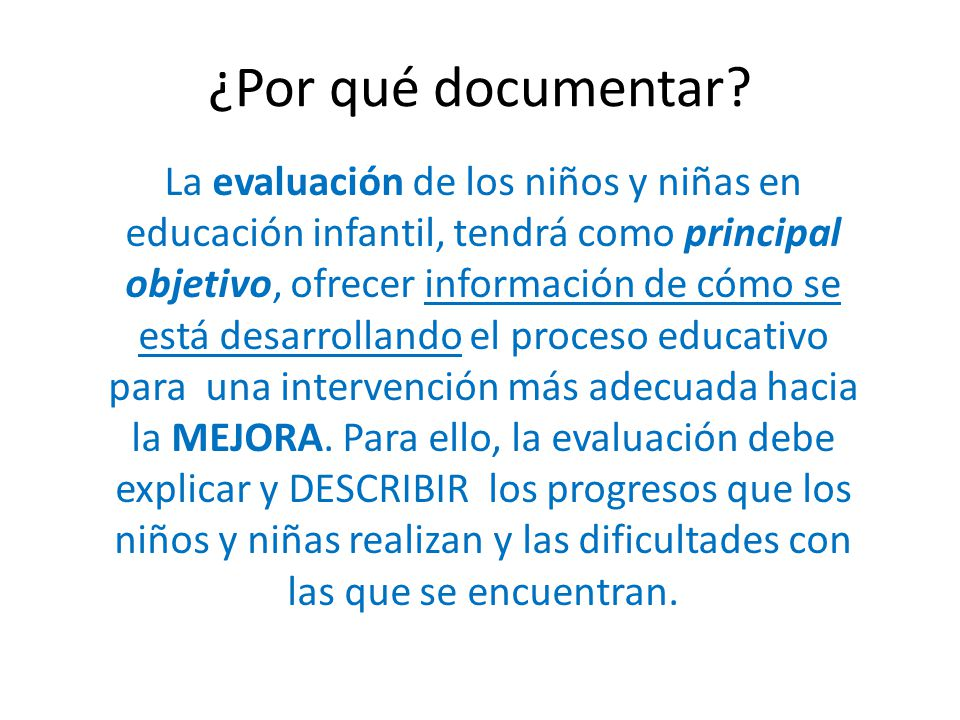 ¿Por qué documentar.