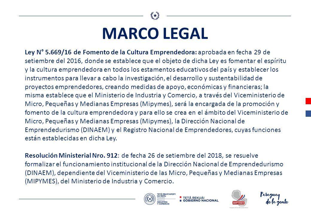Direccion Nacional De Emprendedurismo Dinaem Marco Legal
